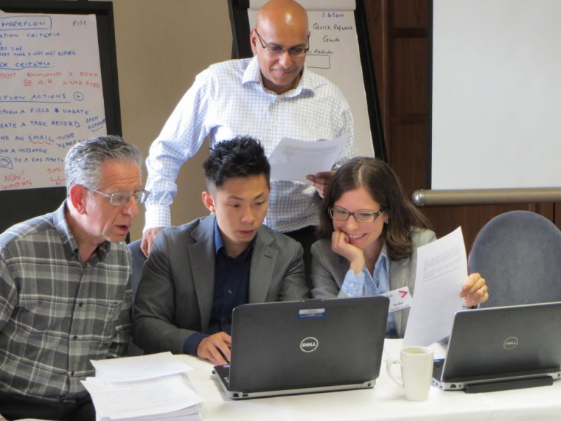 Photos from previous Salesforce and Vlocity training courses