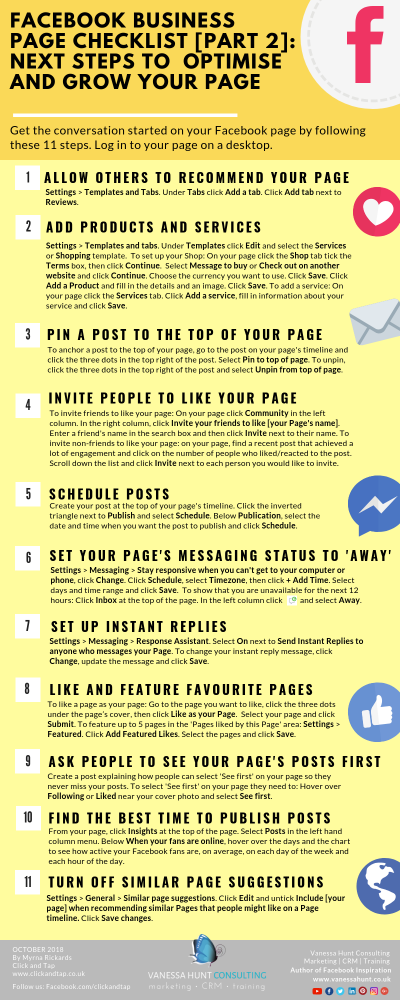 Optimise and grow your Facebook Business Page | Facebook